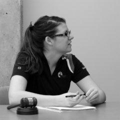 AFAB Chair Bobbi O'Brien leads a budget hearing.