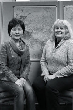 Youngsoo Margolis (left) and Jane Miller (right) have partnered with a South Korean village.