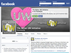 Facebook page for Better UW Initiative.