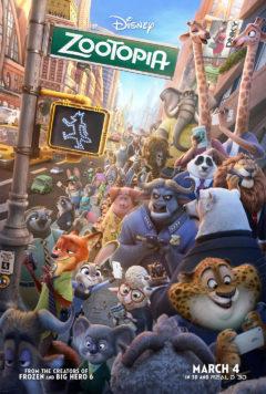 Zootopia movie poster.