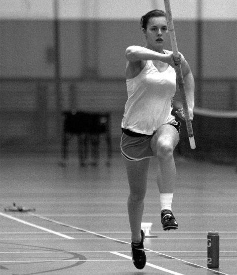 Pole vaulter Riley Claude