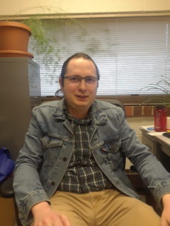 Sam Alvarado is an assistant professor of inorganic chemistry. (Photo by Kacey Joslin)