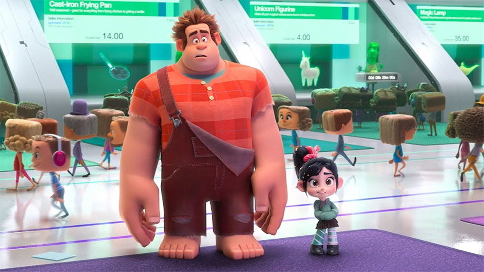 """""""Ralph Breaks the Internet"""" is a 2018 animation film produced by Walt Disney Animation Studios. It features the characters of Wreck-It Ralph (John C. Reilly) and Vanellope (Sarah Silverman)."""