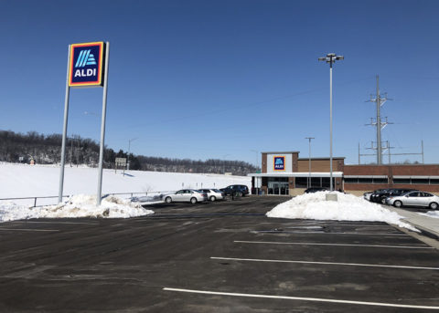 The new Aldi store in River Falls is located off Main Street. (Melissa Thorud/Student Voice)
