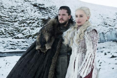 "Kit Harington as Jon Snow and Emilia Clarke as Daenerys Targaryen star in the eighth season of the HBO series ""Game of Thrones."" (Helen Sloan/HBO)"