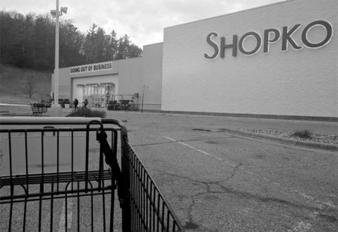 Customers leave Shopko's closing sale in River Falls. (Tyler Perelman / Student Voice)